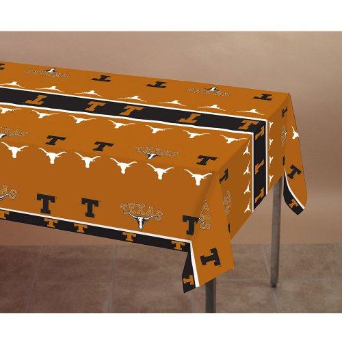 Creative Converting Texas Longhorns Plastic Table Cover, 54'x108'