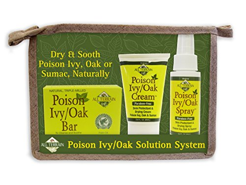 All Terrain Natural Poison Ivy/Oak Solution (Bar, Cream, Spray) Helps Relieve Minor Skin Irritations & Itching from Poison Ivy, Oak, Sumac