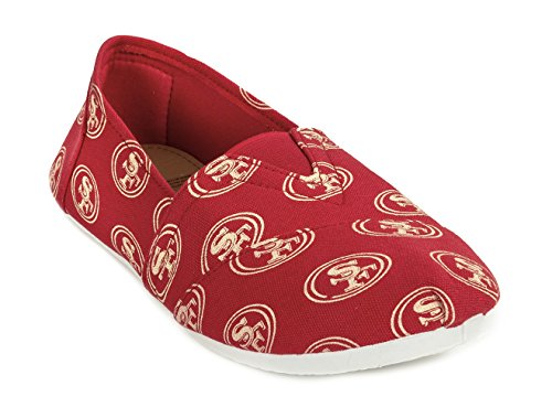 Francisco Nfl San Collectibles Forever on Pick Womens Shoes Ladies Slip Football Canvas 2015 49ers Team Summer xAC6wCTq