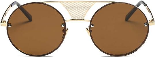 Excellent S2012 Modern Fashion Round Flat Divider Bridge Sunglasses(us Stock, 2-6 Days Shipping)