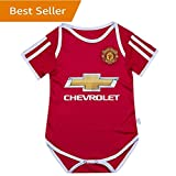 Man Utd Manchester United Bodysuits Onesize For 9-18 Months Baby Suit Red