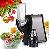 Meflying Professional Salad Maker Electric Shredder, Slicer, Chopper, & Shooter with One-Touch Control and 4 FREE Attachments for fruits, vegetables, and cheeses 4 C (US STOCK)