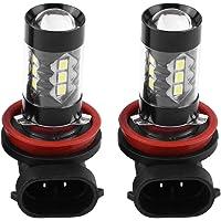 Bombilla de luz antiniebla LED, 2 unidades H11 H8 12V-24V 80W Bombillas de luz diurna LED de alta potencia para automóviles de alta potencia LED