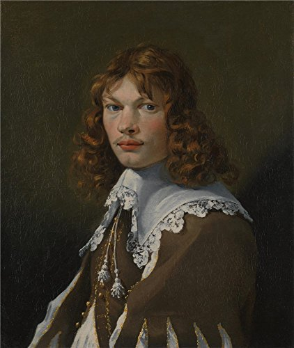 Perfect Effect Canvas ,the Beautiful Art Decorative Canvas Prints Of Oil Painting 'Karel Dujardin Portrait Of A Young Man (Self Portrait) ', 8 X 9 Inch / 20 X 24 Cm Is Best For Dining Room Decoration And Home Decor And Gifts