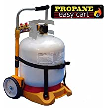 Propane Tank Carrier Cylinder Dolly Easy Cart for Tanks, Heaters, Torches and BBQ Grills (Tank Not Included)