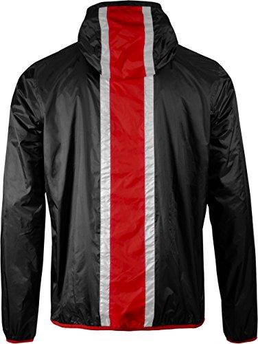 Nero Sportive Mass Rainjacket N7 Giacche Training Effect Windcheater Musterbrand Lightweight Uomo twqTvvZ