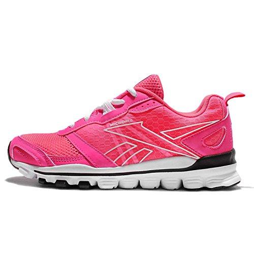 Reebok Hexaffect Run Le, Zapatillas de Running para Mujer Rosa / Negro / Blanco (Solar Pink / Black / White)