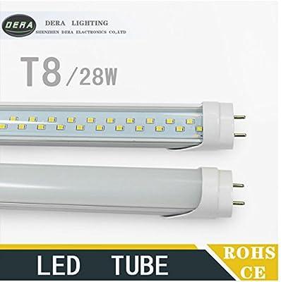 25X T8 4ft 28w led tube light Double line led fluorescent lamp 110-277v smd2835