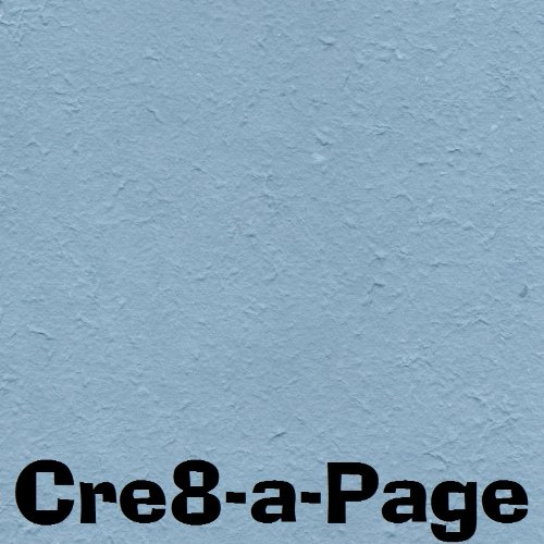 Cre8-a-Page E-18 Handmade Slate Blue Embossed Paper 12×12 Scrapbooking, 10 Sheets