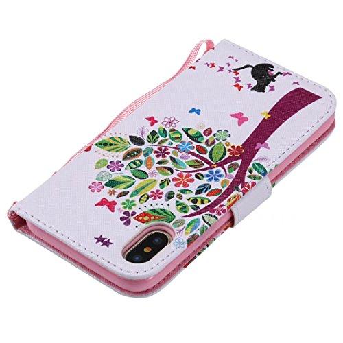 Lemorry Apple Iphonex Iphone 10 Ten Custodia Pelle Cuoio Portafoglio