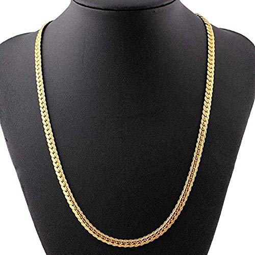 MERSDW Deals Hip Hop Pendant Necklace Men Women Fashion Luxury 1cm Thick Twist Necklace Gold-Plated Twisted Rope Necklace Filled Curb Cuban Link Gold Necklace Jewelry (C) ()