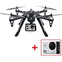 MJX Bugs 3 Brushless RC Quadcopter Drone with Camera 4K HD 170°Adjustable Wide-Angle HD Camera 3D Flips RTF 6 Axis 2.4GHz Quadcopter Longest Control Range 500m Support Gopro Intelligent Battery