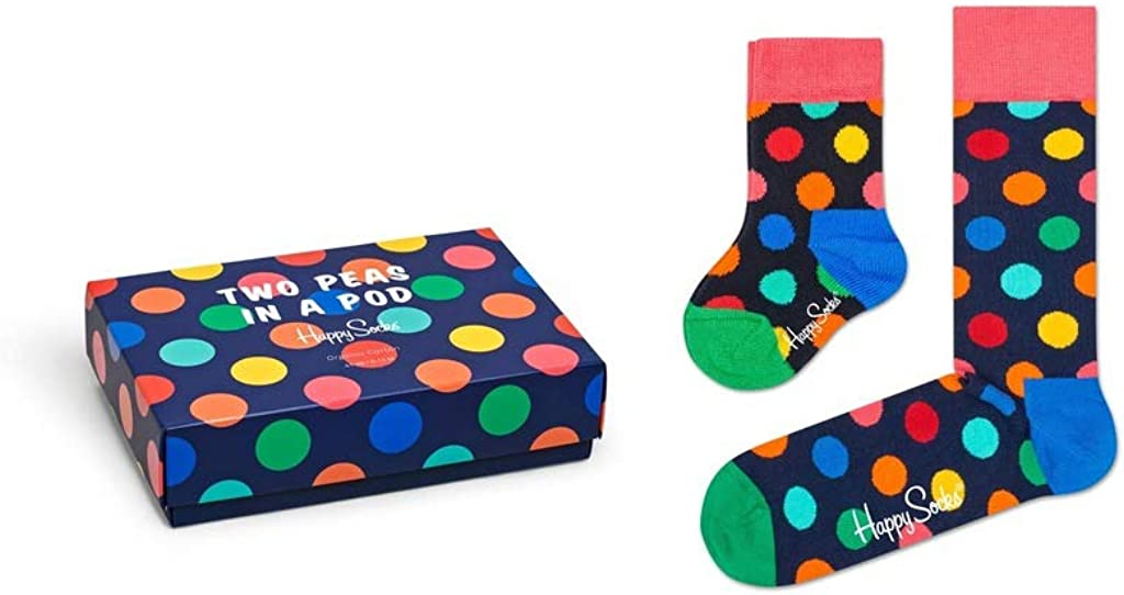 Happy Socks Parent and Baby Thumbs Up Matching Two Peas In A Pod Socks In Gift Box Pack of 2