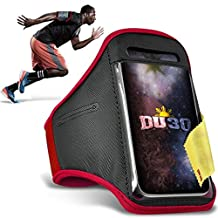 Cubot S308 Armband Case - Adjustable Water Resistant Sports Running Action Mobile Phone Holder with Key / Money Headphone Pocket
