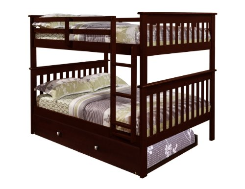 Amazon Com Donco Bunk Bed Full Over Full Trundle In Cappuccino