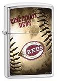 Zippo MLB Cincinnati Reds Brushed Chrome Lighter