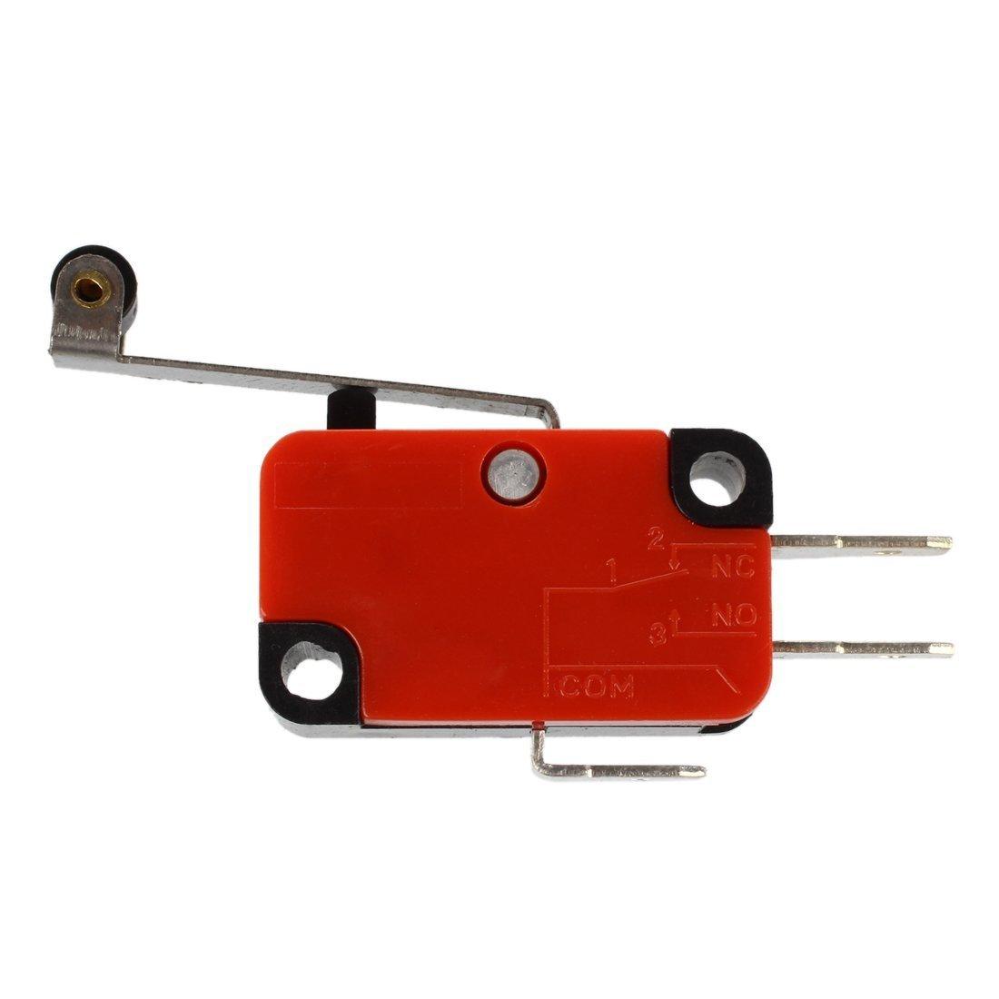 SODIAL Micro Switch SPDT R Microinterruttore 15A V-156-1C25 azione perno stantuffo a scatto
