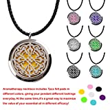 M.JVisun Scented Stainless Steel Jewelry Essential Oil / Perfume Diffuser Locket Necklace 7pcs Pads Disc
