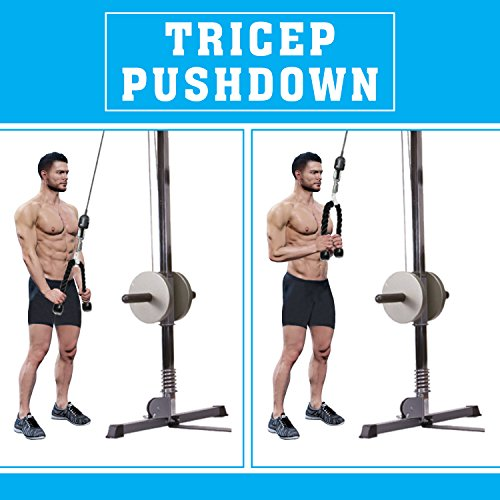 A2ZCARE Combo Tricep Press Down Cable Attachment | Multi-Option: Double D Handle, V-Shaped Bar, Tricep Rope, Rotating Straight Bar (V Handle+Tricep Rope+Rotating Bar+V-Shaped Bar) by A2ZCARE (Image #5)