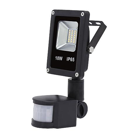 VINGO® Foco LED 10W Blanco frío Resistente al agua IP65 con Sensor de Movimiento
