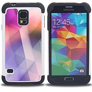 For Samsung Galaxy S5 I9600 G9009 G9008V - pink soothing clean design colors Dual Layer caso de Shell HUELGA Impacto pata de cabra con im??genes gr??ficas Steam - Funny Shop -