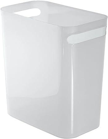 iDesign Mülleimer mit Griffen, kleiner Papierkorb aus