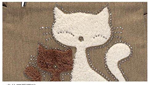 Bolsos Totes para Mujer con Lona Linda del Gato azul