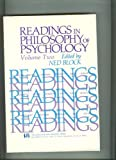 Readings in Philosophy of Psychology, Ned Block, 0674748786