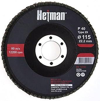 HETMAN Sanding Flap Disc 115mm Grit 120 (PACK OF 10 PCS) Grinding Discs for Angle grinder, Best for Metal + Inox. Novoabrasive.com
