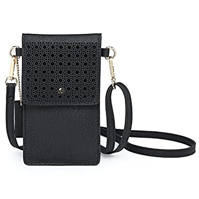 AnsTOP Lightweight Leather Mini Pouch Small Crossbody Bag Cell Phone Purse Wallet Shoulder Bags for Women