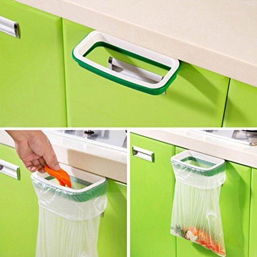 Binmer(TM) Hanging Kitchen Cupboard Cabinet Tailgate Stand Storage Garbage Bag Holder Hanging Bags Trash Rack