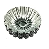 Dealglad 20pcs Aluminum Chrysanthemum Egg Tart Cupcake Cake Cookie Mold Lined Pudding Mould Tin Baking Tool