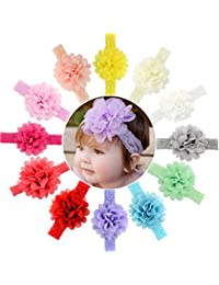 12pcs Baby Girls Headbands Chiffon Flower Lace Band for...