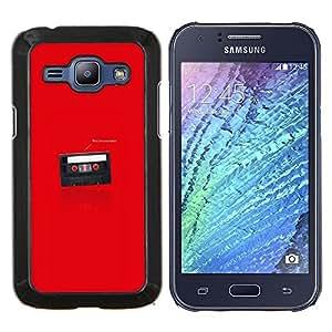 "Be-Star Único Patrón Plástico Duro Fundas Cover Cubre Hard Case Cover Para Samsung Galaxy J1 / J100 ( Divertido soy tu Padre Cassette"" )"