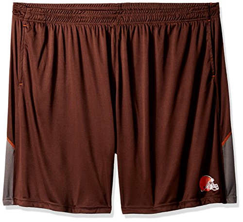 NFL Cleveland Browns Adult men NFL Plus Synthetic Shorts,6X,Brown by Profile Big & Tall