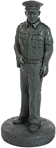 Solid Rock Stoneworks Decorative Policeman Stone Statue 25in Tall Indigo Color
