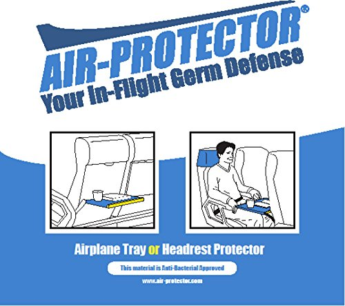 Air-protector Airplane Tray or Headrest Protector/Cover - Your In-Flight Germ Defense