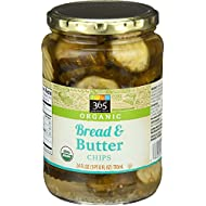 365 Everyday Value, Organic Bread & Butter Chips, 24 oz
