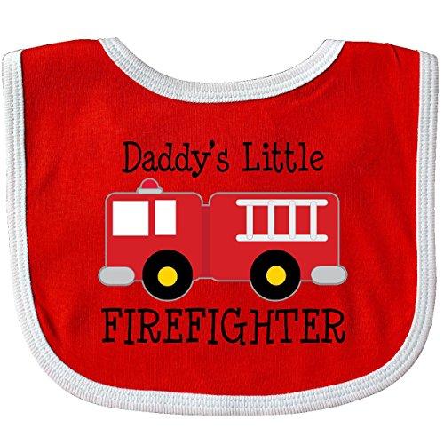 Little Firefighter Baby Bib Red/White ()