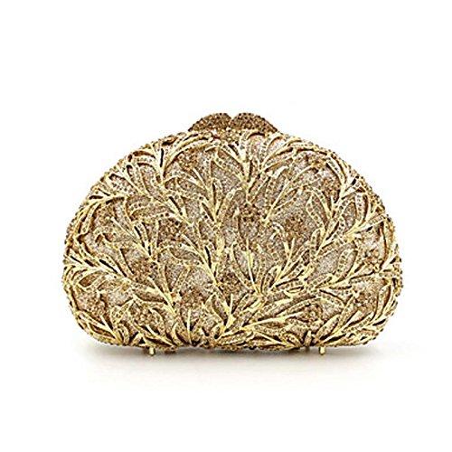 SUNNY KEY-Clutches@Damen Abendtasche Metall Ganzjährig Alltag Veranstaltung / Fest Hochzeit Schminktäschchen Kristall/ Strass Metallic MagnetischGold