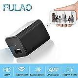 FULAO 1080P Spy Hidden Mini Wall Charger Surveillance Cam Wifi Wireless Portable Security Vedio Recorder Remote Camera
