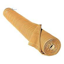 ALEKO 6 x 150 Feet Beige Fence Privacy Screen Windscreen Shade Cover Mesh Fabric Roll with Lock Holes