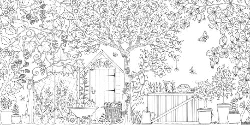Secret garden an inky treasure hunt and coloring book in Amazon coloring books for adults secret garden