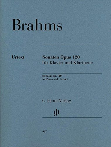 Sonatas - op. 120 - clarinet and piano - revised edition - ( HN 987 ) (English, German and French Edition) Clarinet Piano Sheet Music