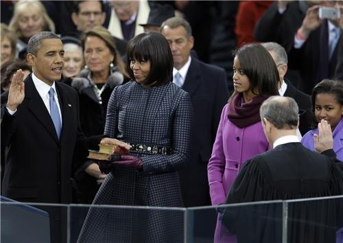 Barack Obama Inauguration Ceremony Glossy Poster Picture Photo michelle usa