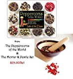 Gourmet Peppercorns with Mortar and Pestle