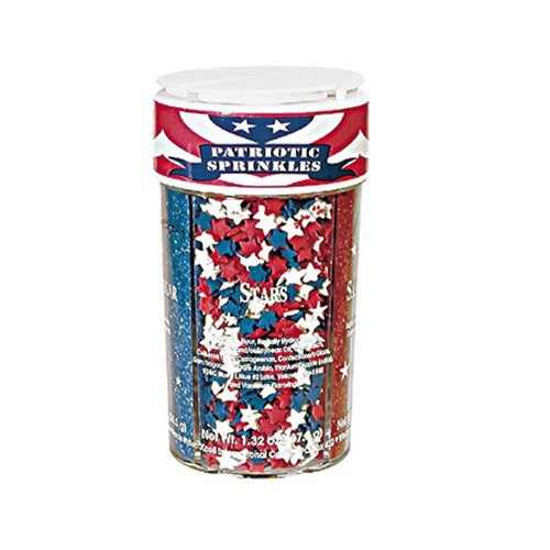 Dean Jacob's Patriotic Accents Sprinkles, 6.9-ounce