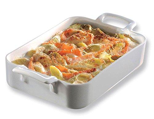 - REVOL Belle Cuisine Rectangular Roasting Dish, 3.85 QT -  White