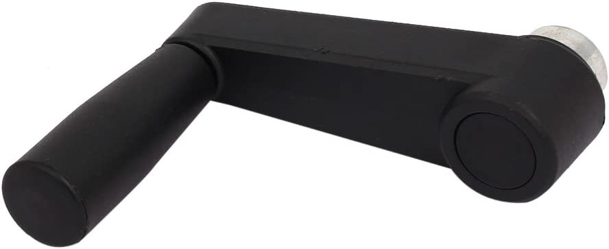 foro tondo 60mm lunghezza manovella manico girevole Macchina Utensile nero sourcingmap/® 8mm diam