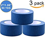 Painters Tape 3pk 1.88'' x 60 yd | Professional Blue Painters Masking Tape | Easy and Clean Removal | Multi Surface Use | ISO 9001 Worldwide Quality | Leaves No Residue Behind | (48mm .1.88in) (3 Pack)